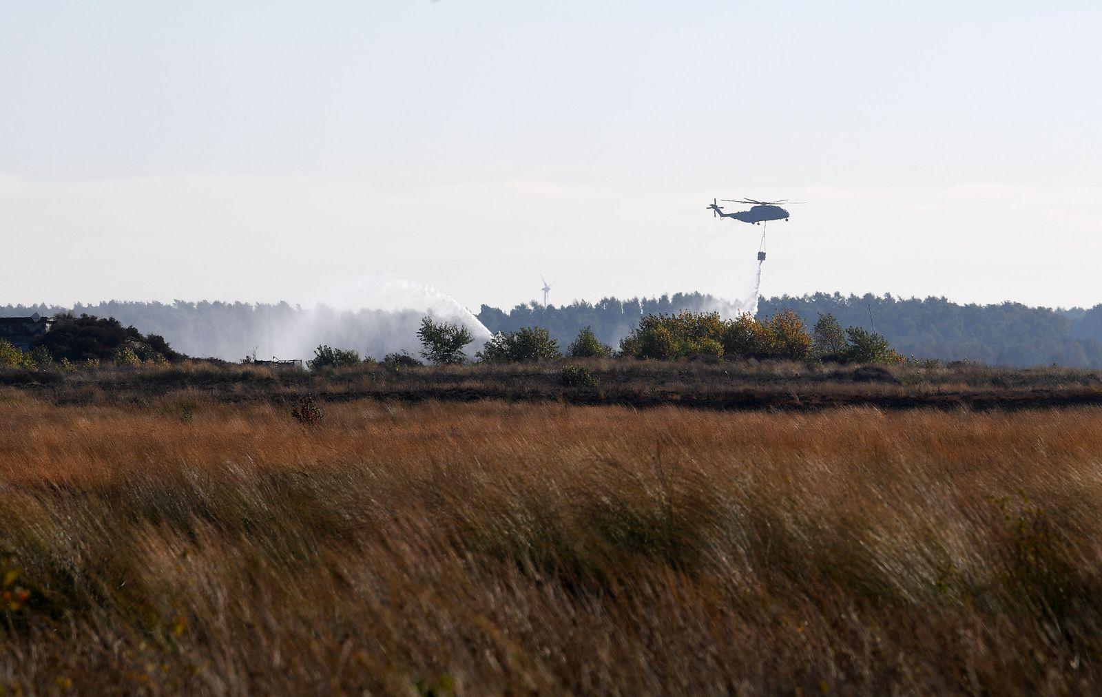 Bundeswehr prüft nach Moorbrand auf radioaktive Strahlung