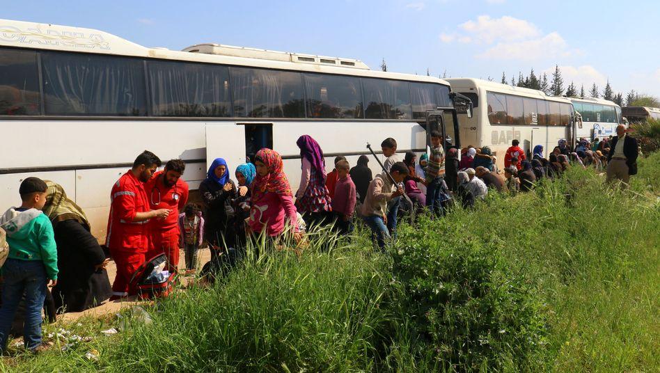 Buskonvoi in Raschidin