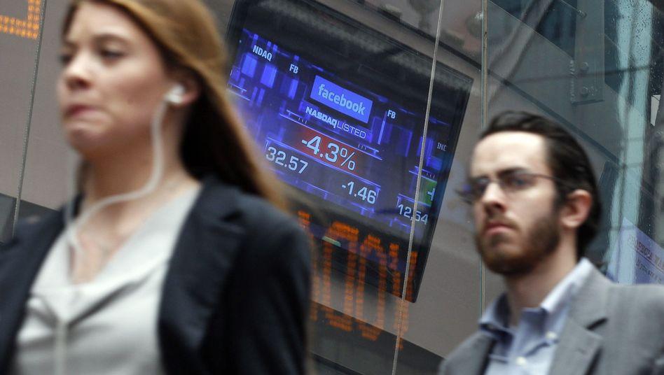 Facebook-Börsengang: Kleinanleger machen hohe Verluste