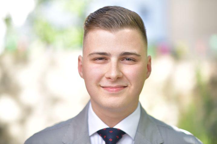 Viktor Stoyanov ist dualer Student und leitet die Bankett-Abteilung eines Hotels