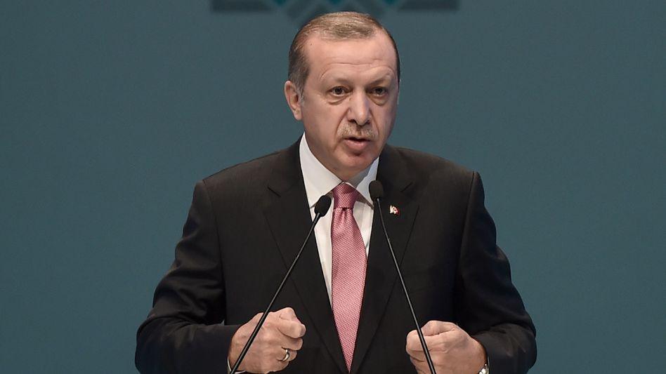 Recep Tayyip Erdogan in Istanbul (am 3. März)