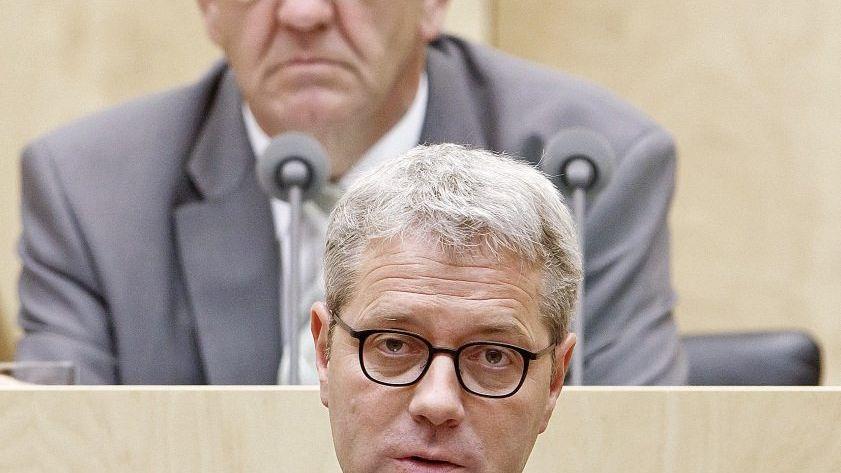Verhandlungspartner Röttgen (vorn), Kretschmann