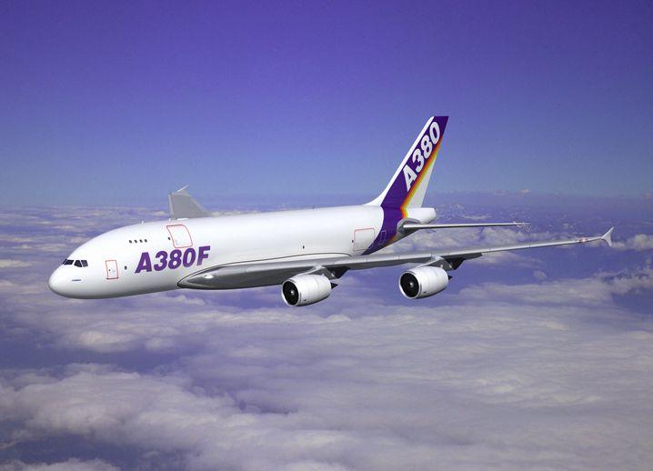 Das geplante Modell A380F - aber nur in einer grafischen Darstellung