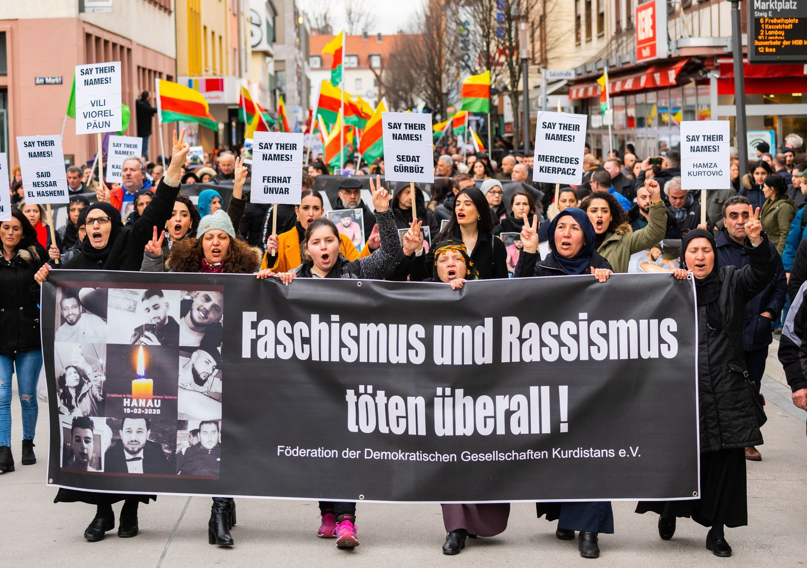 Nach Schüssen in Hanau - Demonstration