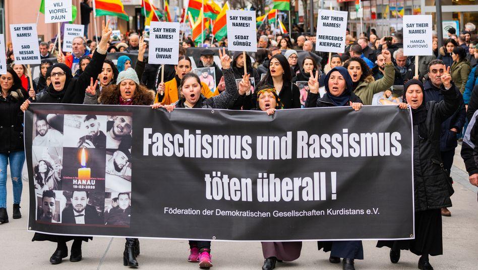Demonstration nach dem Anschlag in Hanau (Archivfoto)