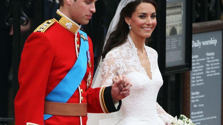 William und Kate: Kutschfahrt zum Palast