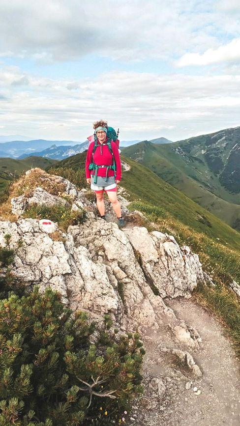 Salentin in der Kleinen Fatra in der Slowakei: »Für die Wanderung hatte ich mein Café verkauft und mich von meinen langen, rot gefärbten Haaren getrennt«