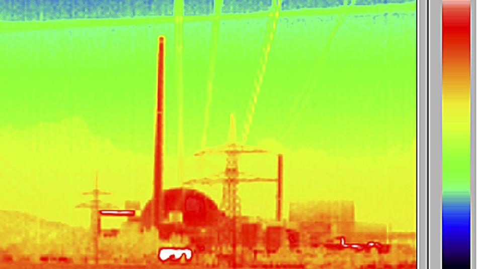 AKW Philippsburg (Wärmebildaufnahme)