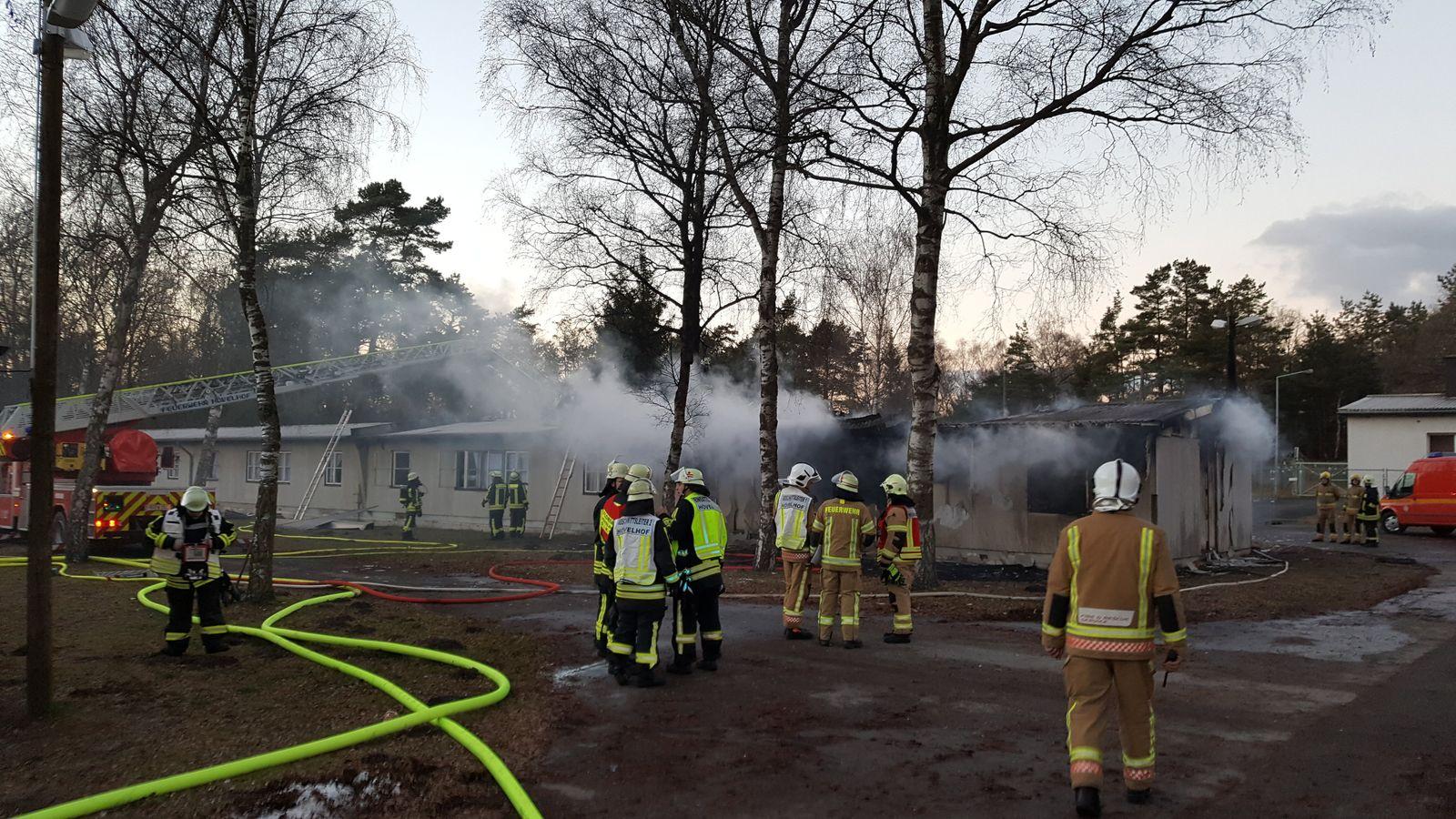 Brand in Flüchtlingsunterkunft Staumühle gelöscht