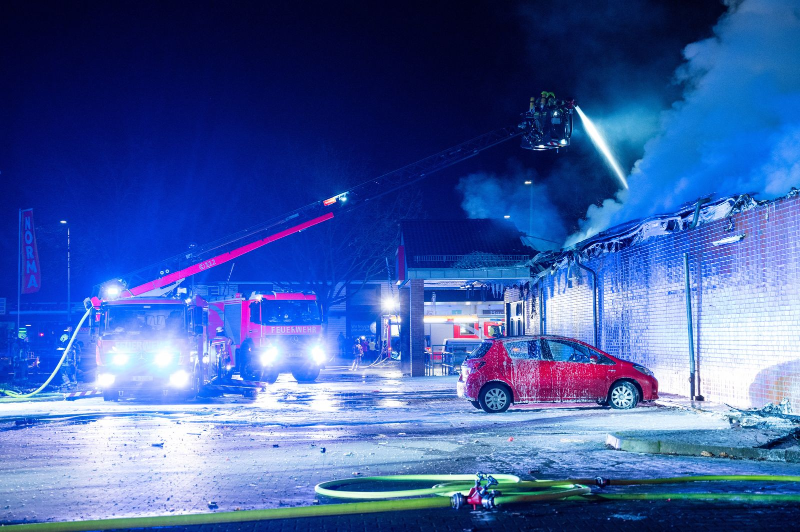 Silvester - Großbrand in Berlin