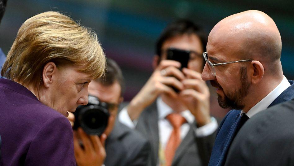 Bundeskanzlerin Merkel, EU-Ratspräsident Michel: Fehlschlag beim Haushaltsgipfel