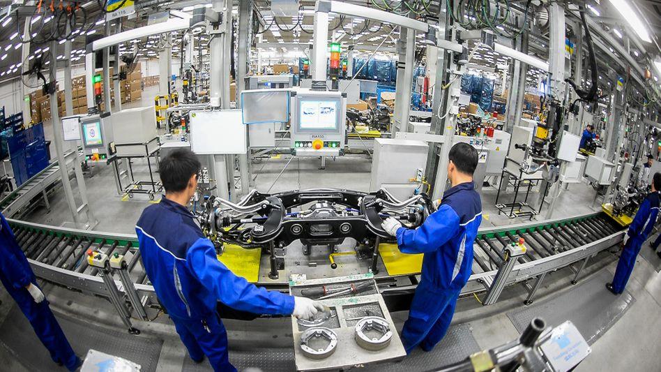 Werk eines Autozulieferers in Peking (Archivbild): »Es wird strukturelle Veränderungen geben, auch in der Frage, wie China in die Handelsketten eingebaut ist«