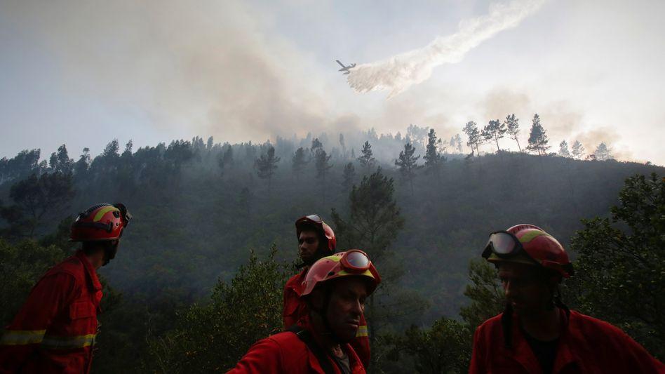 Portugiesische Feuerwehrleute im Einsatz (Archiv)