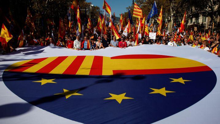 Großdemo in Barcelona: Geeint für die Einheit