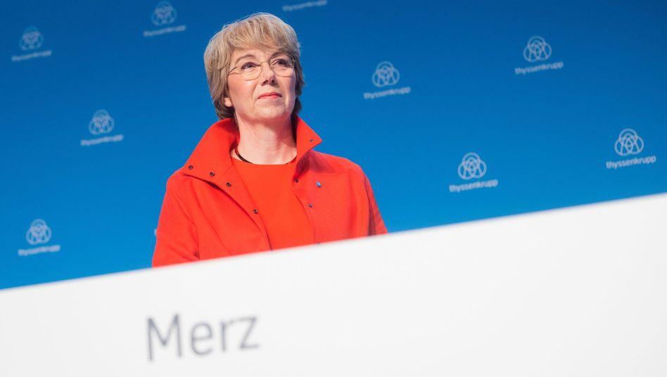 Thyssenkrupp-Chefin Martina Merz plant in Kürze ein Treffen mit dem langjährigen Salzgitter-Chef Hans Jörg Fuhrmann