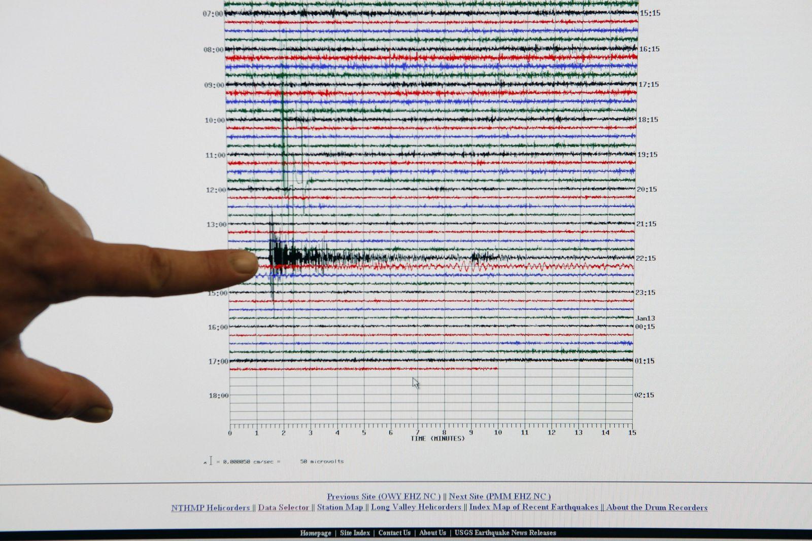 Haiti / Erdbeben / Seismogramm