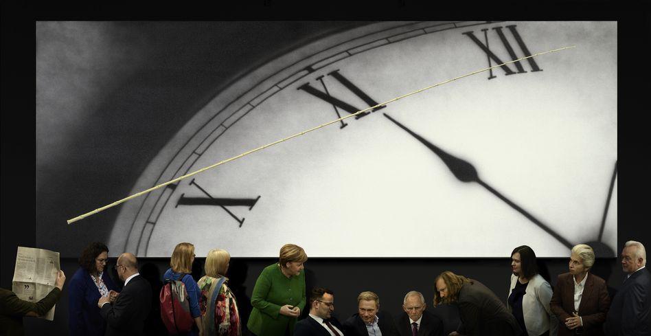 Gurskys 2020 entstandenes Bild »Politik II«: Kunst als Warnhinweis