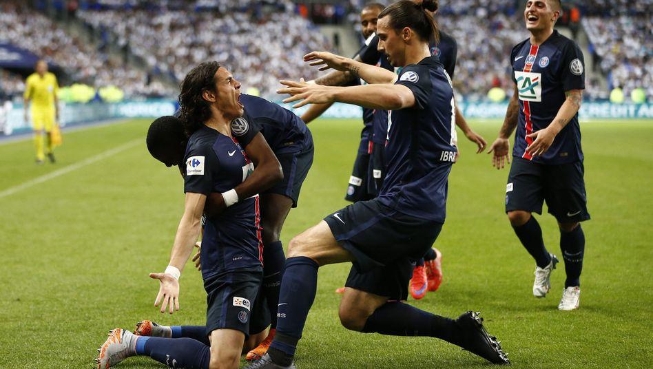 PSG-Spieler Cavani, Ibrahimovic: Klub kann wieder investieren