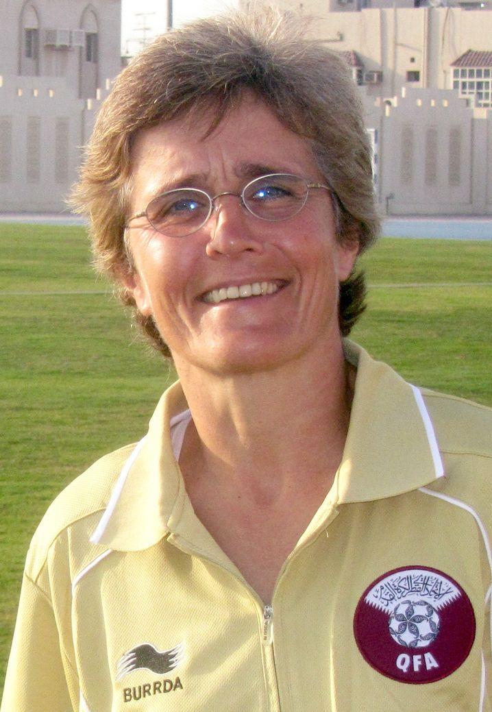 Monika Staab war zwischen 2013 und 2014 Trainerin der katarischen Fußball-Nationalmannschaft der Frauen