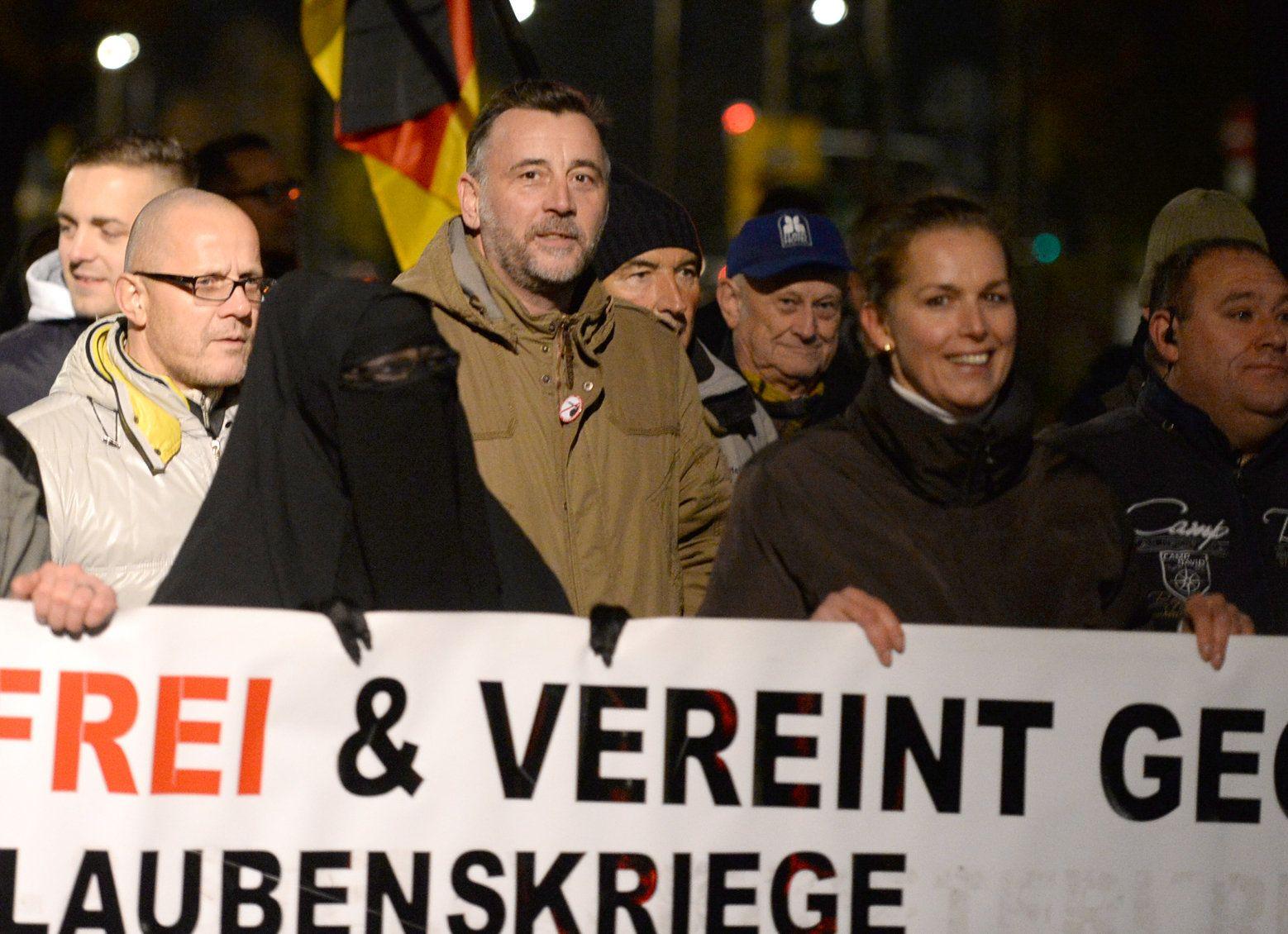 Pegida marschiert in Dresden Lutz Bachmann