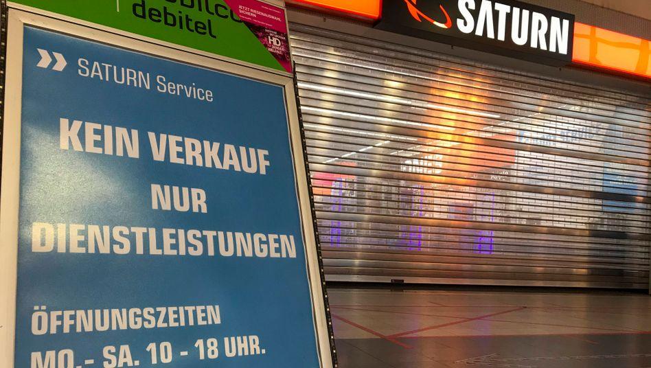 Geschlossener Saturn-Markt in Offenbach (am 29. Dezember 2020)
