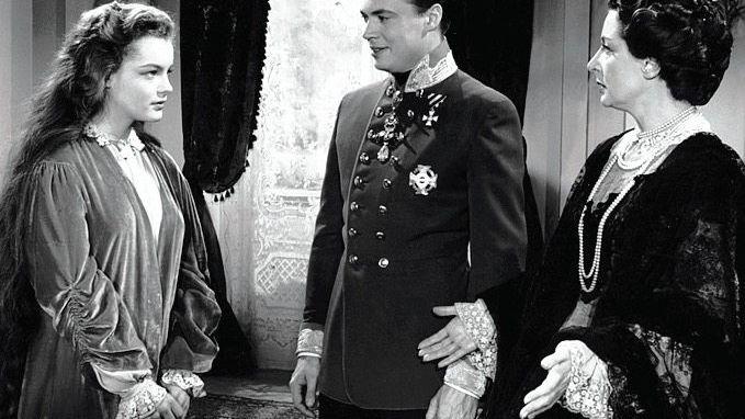Filmszene aus »Sissi«, 1955, mit Prinzessin Sissi und ihrer Schwiegermutter Sophie