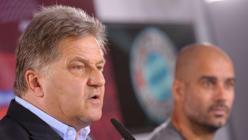 FCB-Mediendirektor Hörwick, Trainer Guardiola: Eine einzige Frage zugelassen