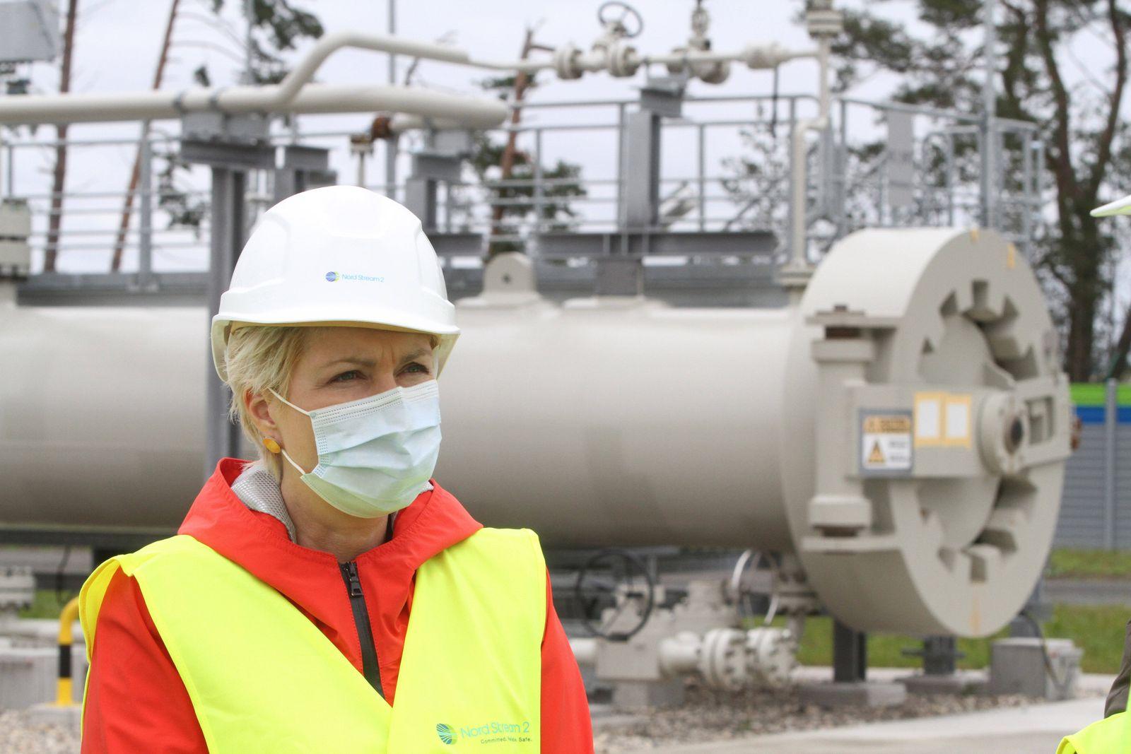 Die Ministerpräsidentin des Landes Mecklenburg Vorpommern Manuela Schwesig besucht am Donnerstag (15.10.2020) die Anland