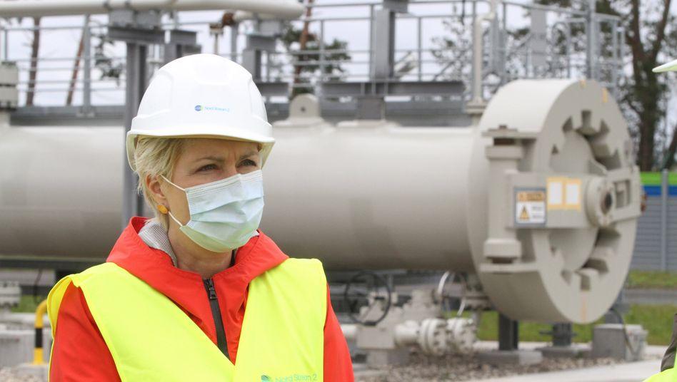 Manuela Schwesig besucht die Anlandestation für die Pipeline Nord Stream 2, 15. Oktober 2020