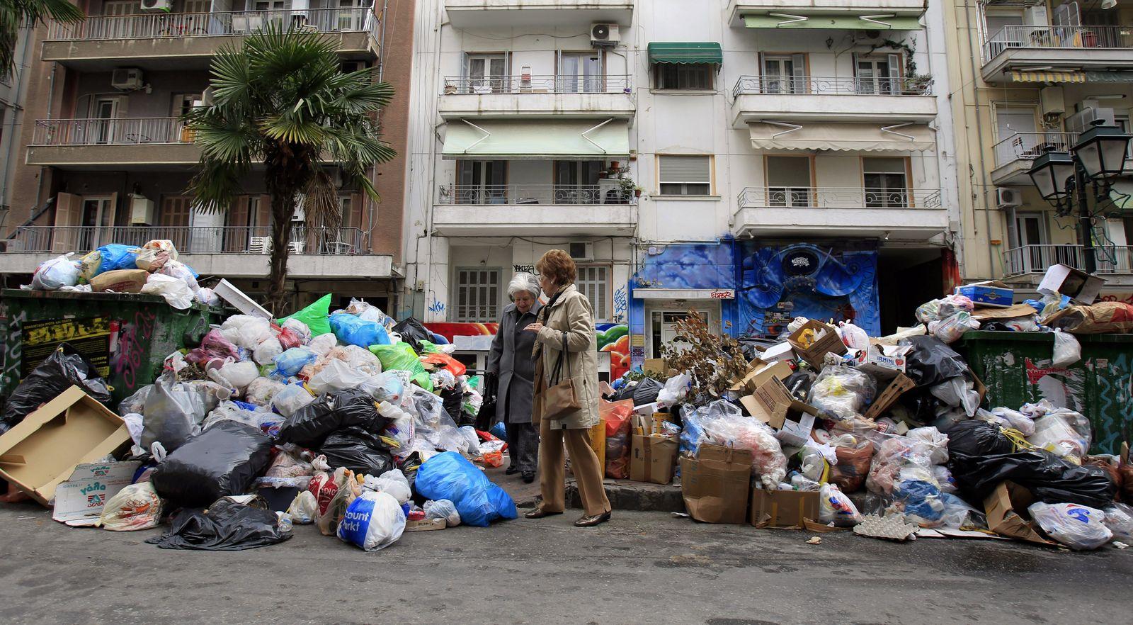 Griechenland Müllstreik Krise