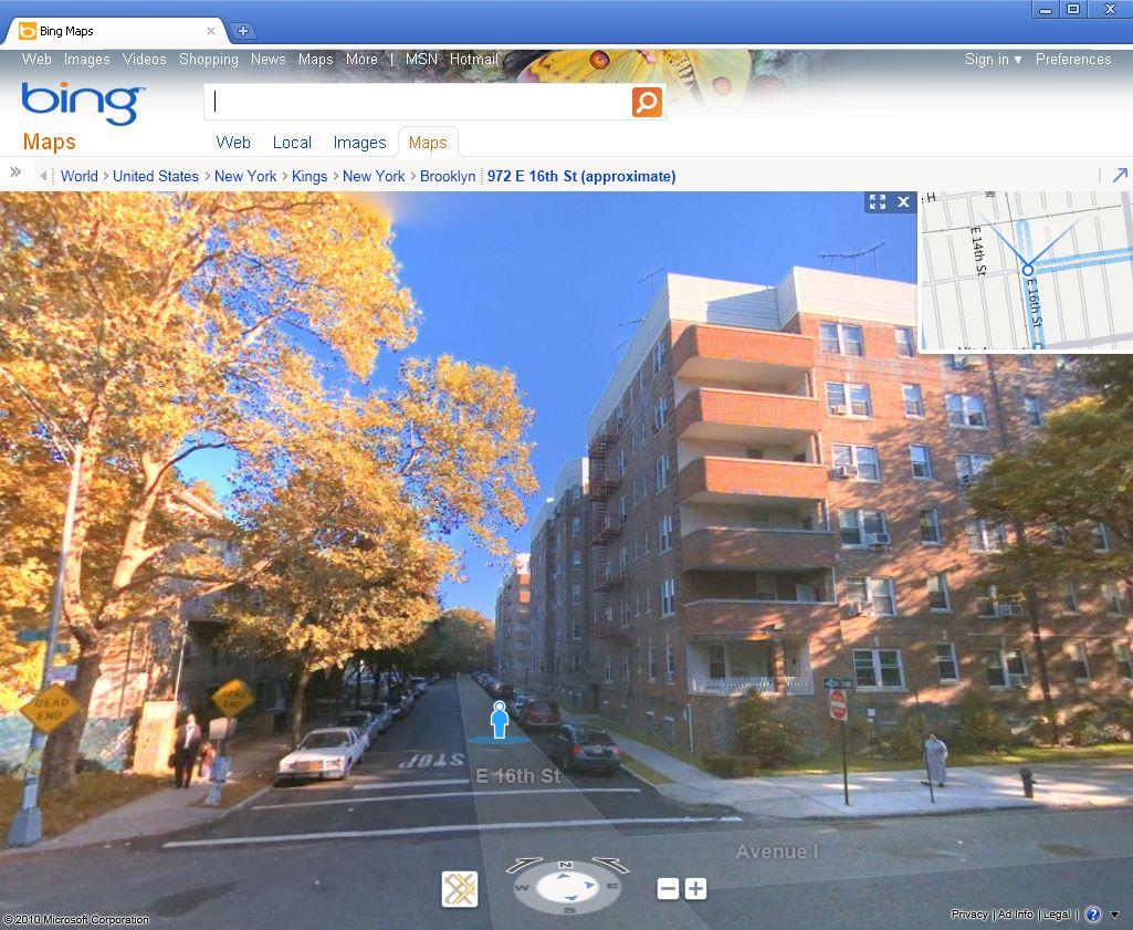SCREENSHOT Bing Maps / Brooklyn