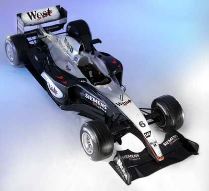 Das Modell des neuentwickelten McLaren-Mercedes MP4-18