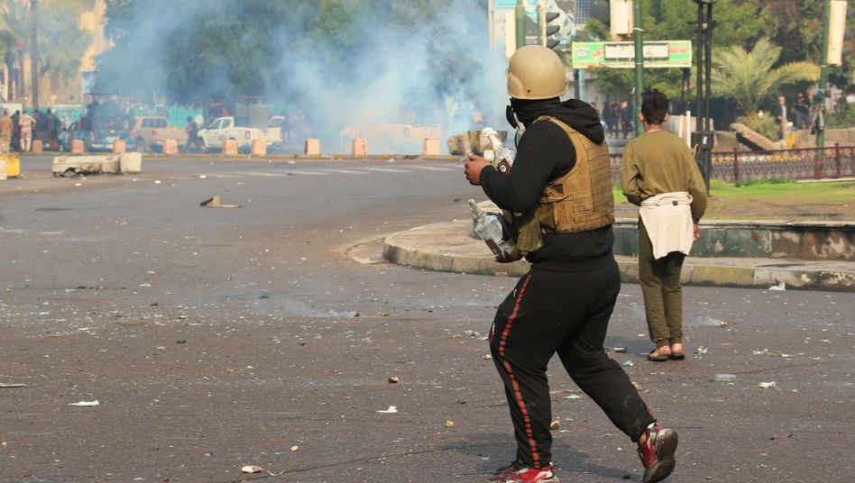 Bagdad Gewalt im Irak: Sicherheitskräfte gehen gegen Proteste vor