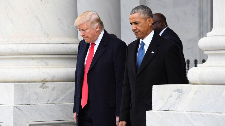 Barack Obama (r.) und Donald Trump (im Januar 2017)