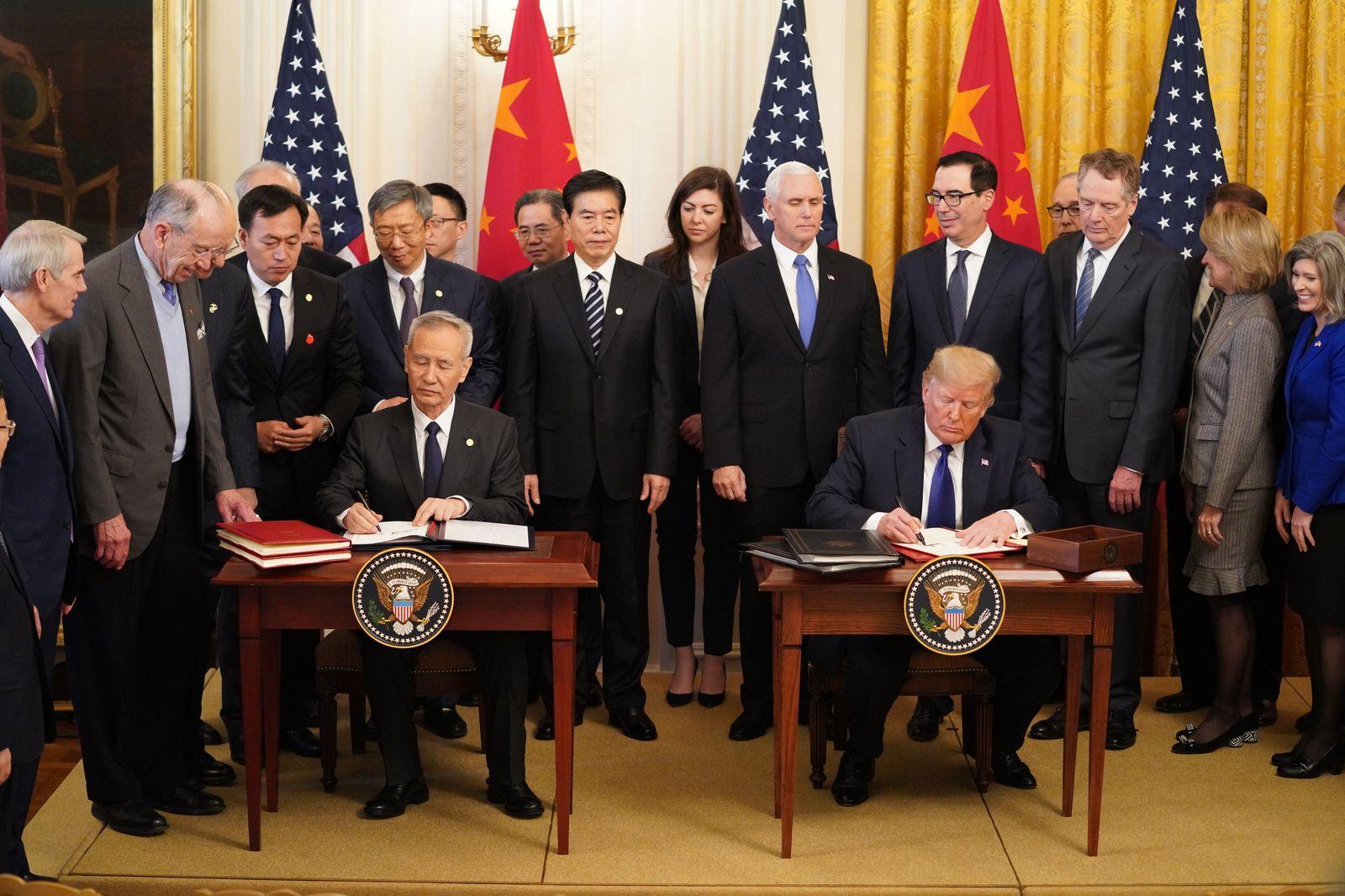 USA und China unterzeichnen Handelsabkommen