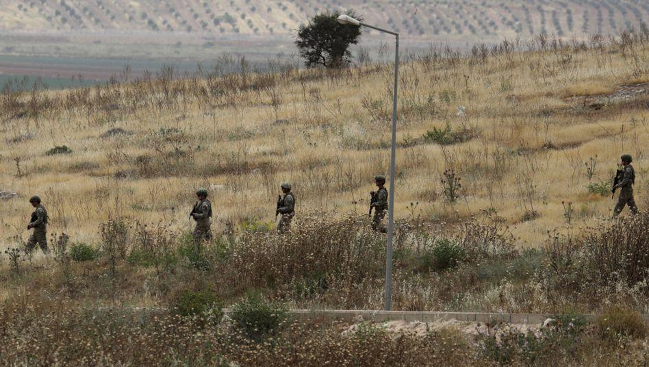 Türkische Soldaten an der syrischen Grenze: Erdogan hat eine weitere Offensive angekündigt