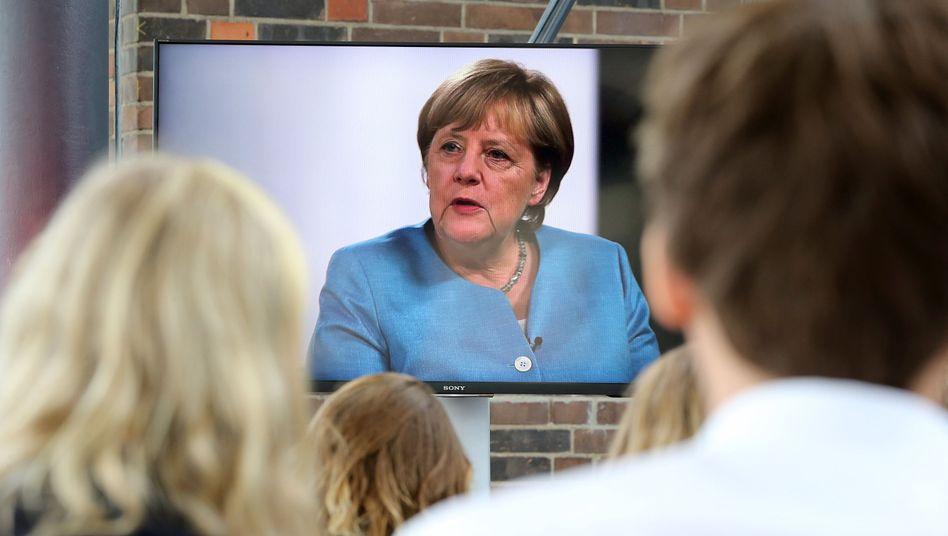 Angela Merkel im Gespräch mit YouTubern