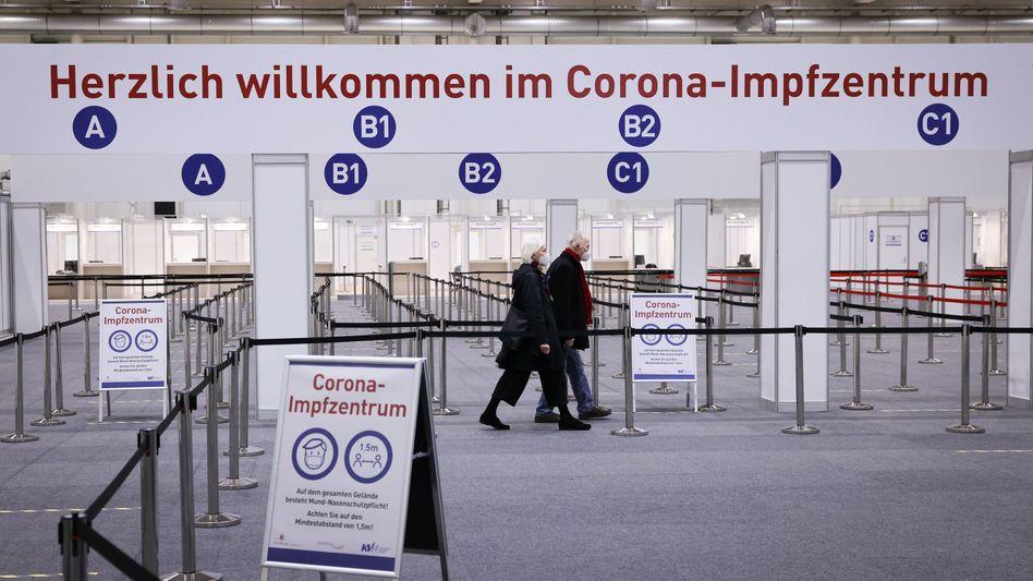 Corona-Impfzentrum in Hamburg