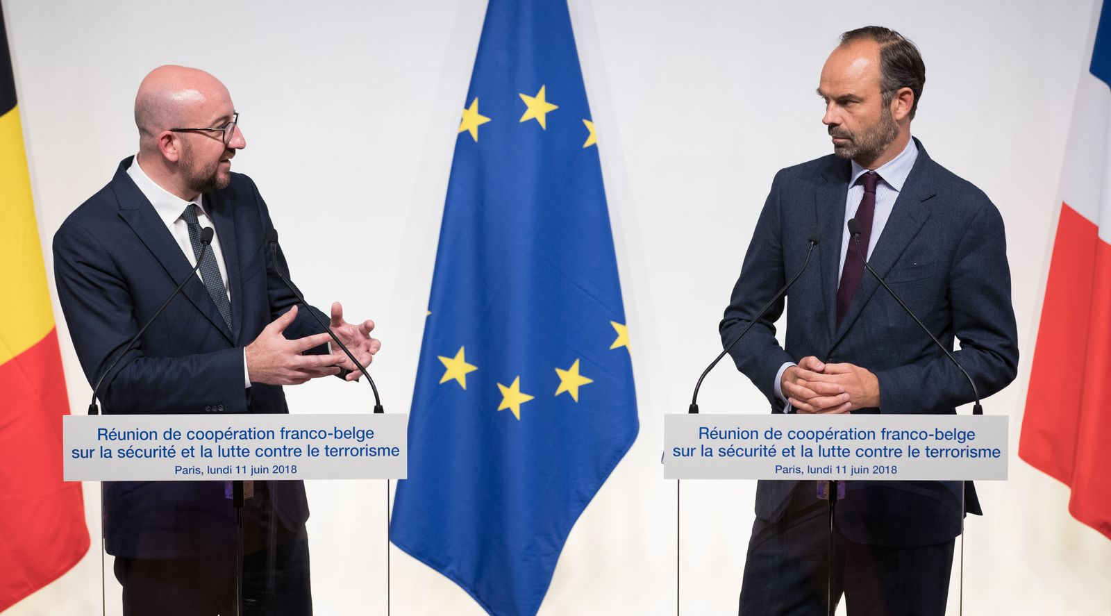 Édouard Philippe und Charles Michel