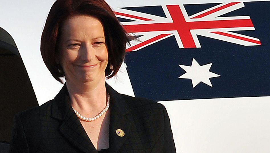 Australische Premierministerin Gillard: Im Dirndl in Seoul