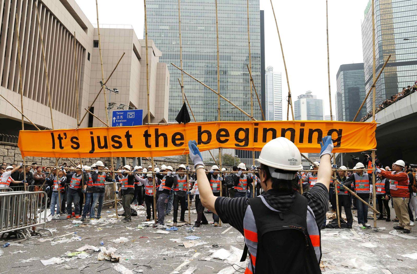 HONGKONG Proteste Plakat