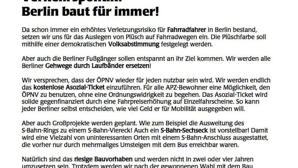 Berlin: Wahlkampf der kuriosen Kleinen
