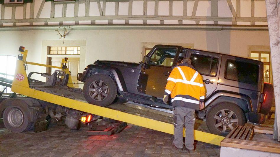 Der sichergestellte Geländewagen