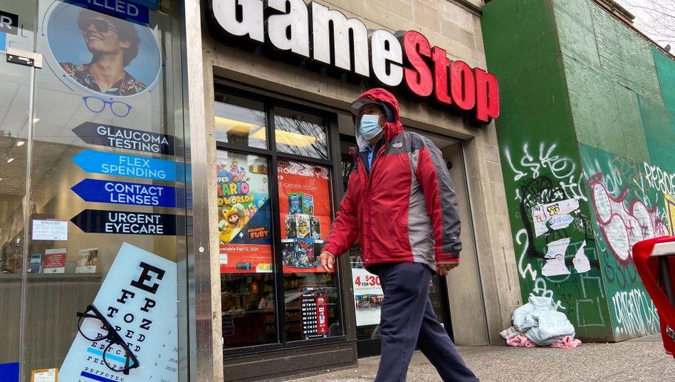 GameStop-Laden in New York: Spielehändler im Zentrum eines virtuellen Flashmobs