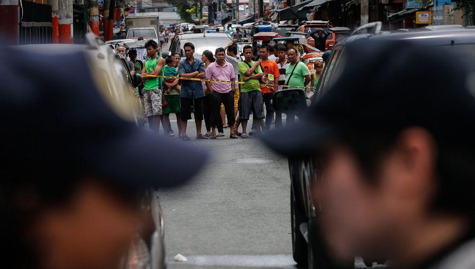 Absperrung nach Anti-Drogen-Razzia in Manila (Archiv)