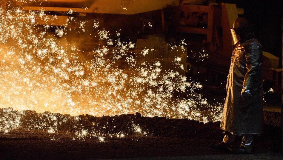 Stahlproduktion bei der Salzgitter AG