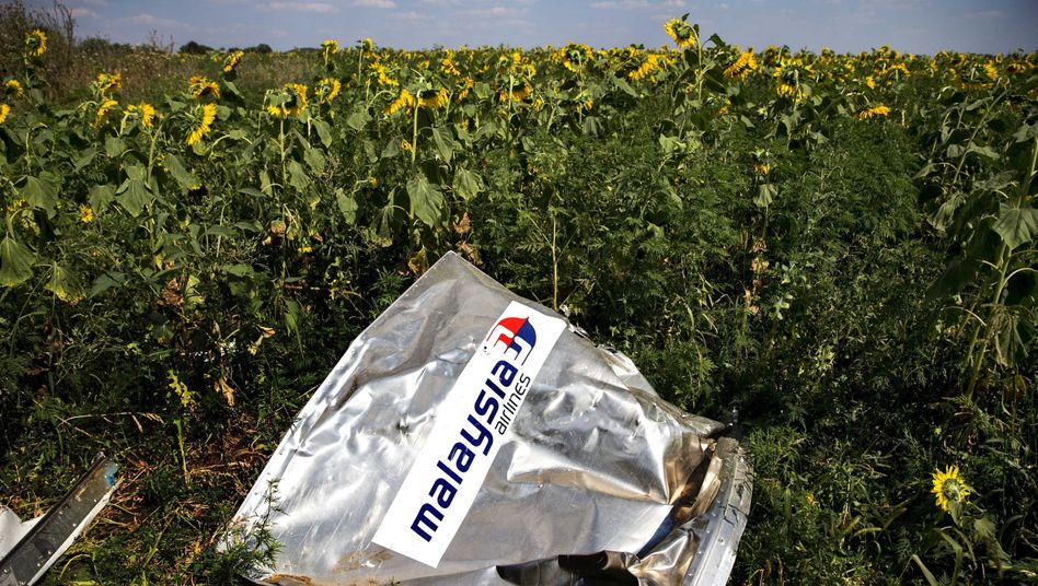 "Debris at the crash site of Malaysia Airlines Flight MH17 in eastern Ukraine: ""If we in fact want to try the perpetrators in court, we will need evidence and more than a recorded call from the Internet or photos from the crash site."""