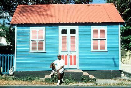"""Im 19. Jahrhundert begannen befreite Sklaven, die heute typischen """"Chattel Houses"""" zu errichten"""
