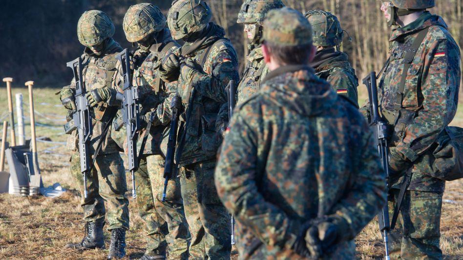 Soldaten während der Ausbildung