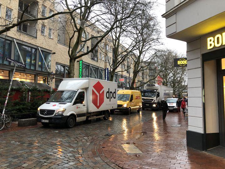 Einkaufsstraße in Hamburg